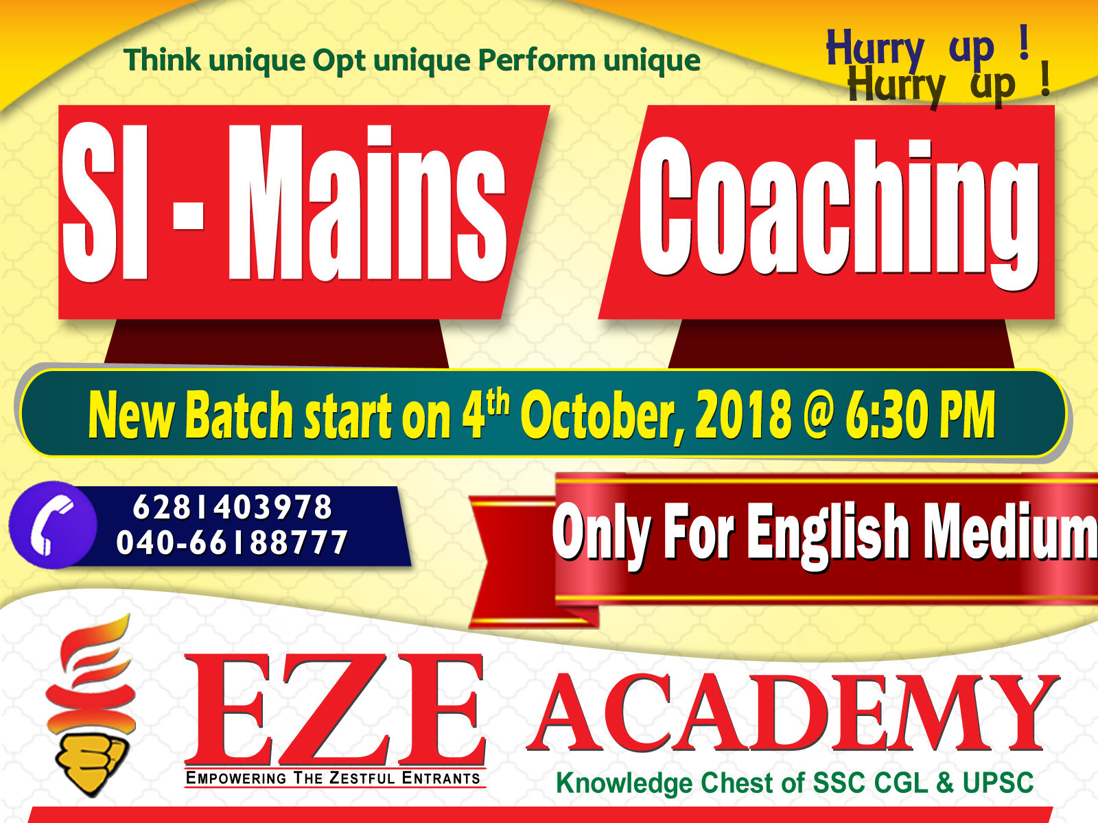 si mains coaching in hyderabad