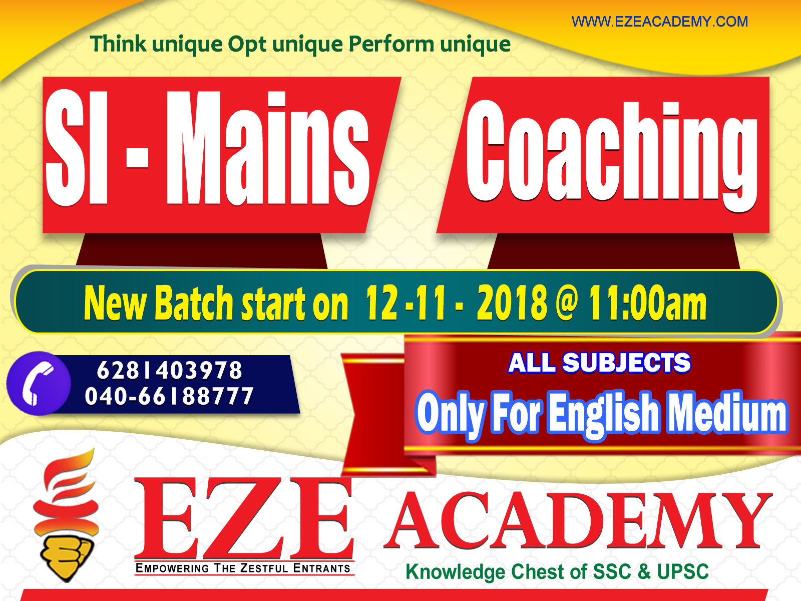 best si mains coaching center in hyderabad
