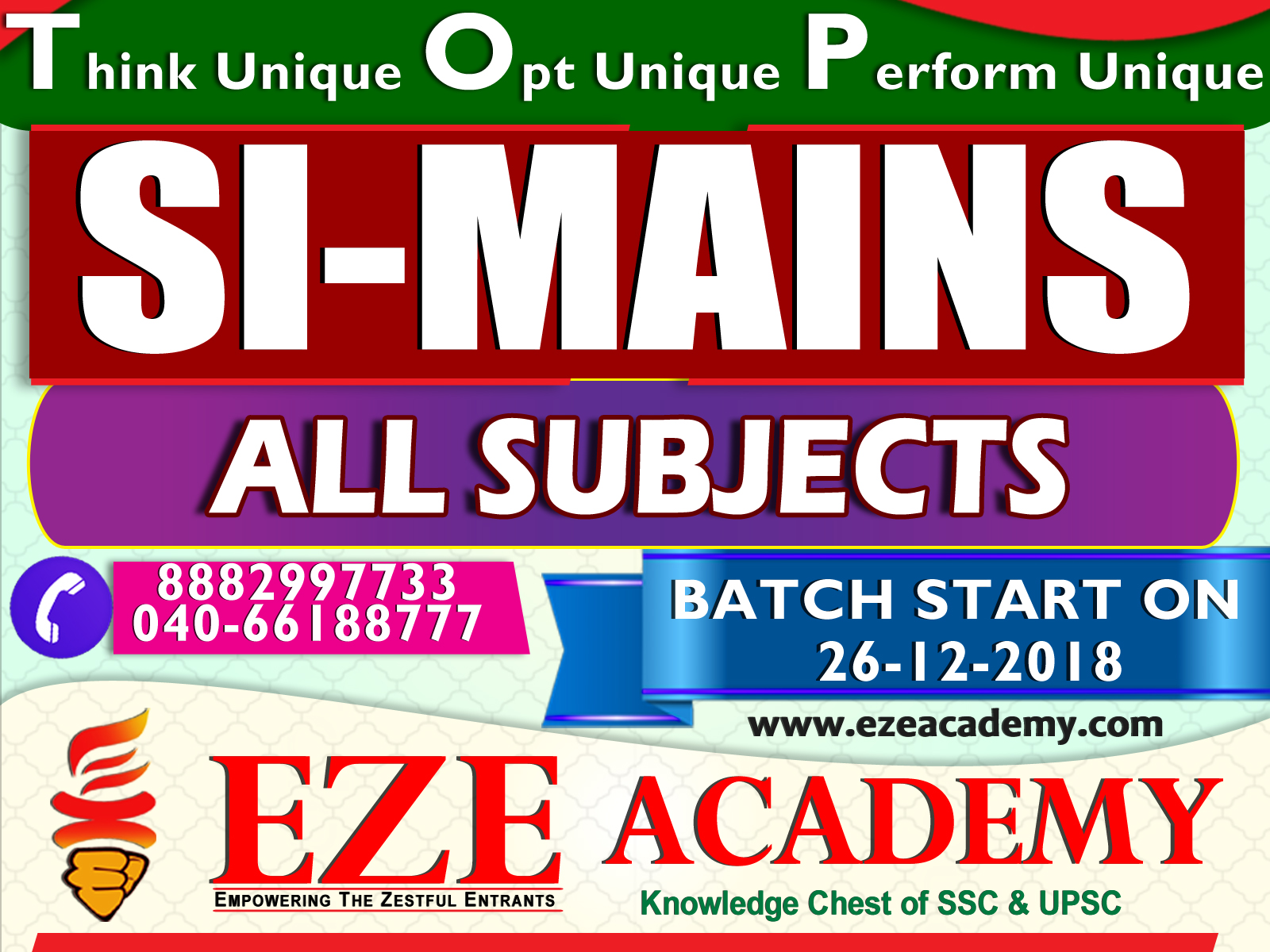 si coaching centers in hyderabad